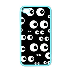 Seamless Eyes Tile Pattern Apple Iphone 4 Case (color) by Nexatart