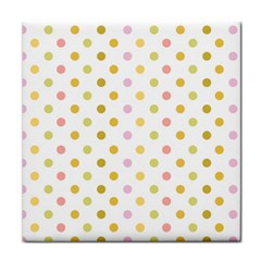 Polka Dots Retro Tile Coasters