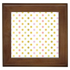 Polka Dots Retro Framed Tiles