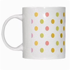 Polka Dots Retro White Mugs