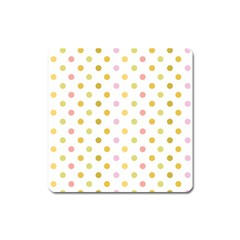 Polka Dots Retro Square Magnet