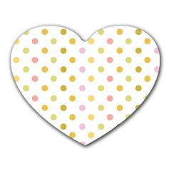 Polka Dots Retro Heart Mousepads