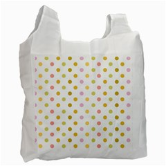 Polka Dots Retro Recycle Bag (two Side)  by Nexatart