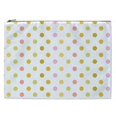 Polka Dots Retro Cosmetic Bag (xxl)