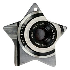 Vintage Camera Star Ornament (two Sides) by Nexatart