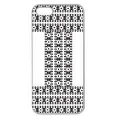 Pattern Background Texture Black Apple Seamless Iphone 5 Case (clear) by Nexatart