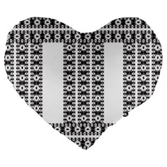 Pattern Background Texture Black Large 19  Premium Heart Shape Cushions by Nexatart