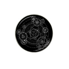 Formal Magic Circle Hat Clip Ball Marker (4 Pack) by Nexatart