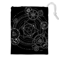 Formal Magic Circle Drawstring Pouches (xxl) by Nexatart