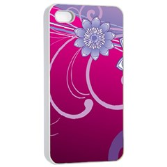 Love Flowers Apple Iphone 4/4s Seamless Case (white) by Nexatart