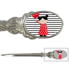 Valentines Day Girl 2 Letter Openers