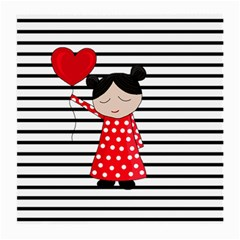 Valentines Day Girl 2 Medium Glasses Cloth by Valentinaart