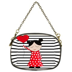 Valentines Day Girl 2 Chain Purses (one Side)  by Valentinaart