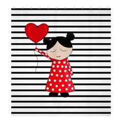 Valentines Day Girl 2 Shower Curtain 66  X 72  (large)  by Valentinaart