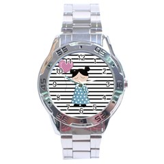 Valentines Day Design Stainless Steel Analogue Watch by Valentinaart