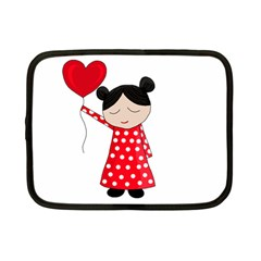 Girl In Love Netbook Case (small)  by Valentinaart