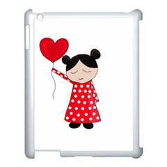 Girl In Love Apple Ipad 3/4 Case (white) by Valentinaart