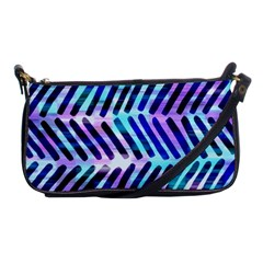 Blue Tribal Chevrons  Shoulder Clutch Bags by KirstenStar