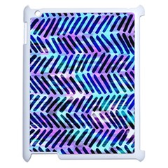 Blue Tribal Chevrons  Apple Ipad 2 Case (white) by KirstenStar