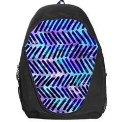 Blue Tribal Chevrons  Backpack Bag by KirstenStar