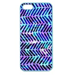 Blue Tribal Chevrons  Apple Seamless Iphone 5 Case (color) by KirstenStar