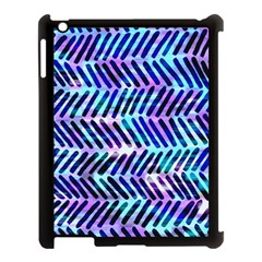 Blue Tribal Chevrons  Apple Ipad 3/4 Case (black) by KirstenStar