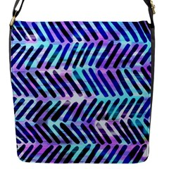 Blue Tribal Chevrons  Flap Messenger Bag (s) by KirstenStar