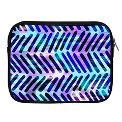 Blue Tribal Chevrons  Apple Ipad 2/3/4 Zipper Cases by KirstenStar