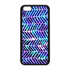 Blue Tribal Chevrons  Apple Iphone 5c Seamless Case (black) by KirstenStar