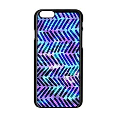 Blue Tribal Chevrons  Apple Iphone 6/6s Black Enamel Case by KirstenStar