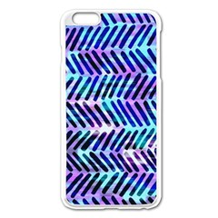Blue Tribal Chevrons  Apple Iphone 6 Plus/6s Plus Enamel White Case by KirstenStar