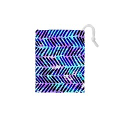Blue Tribal Chevrons  Drawstring Pouches (xs)  by KirstenStar