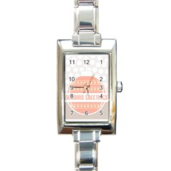 Merry Christmas Rectangle Italian Charm Watch