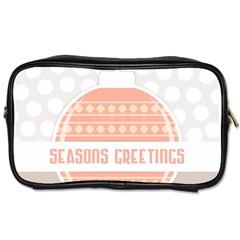 Merry Christmas Toiletries Bags 2 Side by Nexatart