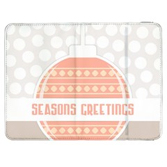 Merry Christmas Samsung Galaxy Tab 7  P1000 Flip Case by Nexatart