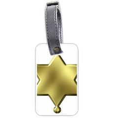 Sheriff Badge Clip Art Luggage Tags (one Side)