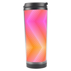 Pattern Background Pink Orange Travel Tumbler