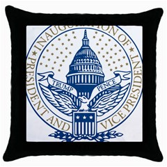 Presidential Inauguration Usa Republican President Trump Pence 2017 Logo Throw Pillow Case (black)