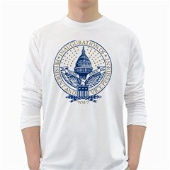 Presidential Inauguration Usa Republican President Trump Pence 2017 Logo White Long Sleeve T Shirts