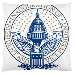 Presidential Inauguration Usa Republican President Trump Pence 2017 Logo Standard Flano Cushion Case (one Side)