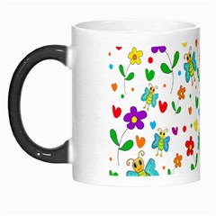 Cute Butterflies And Flowers Pattern Morph Mugs by Valentinaart