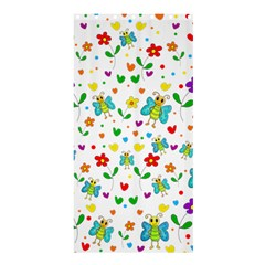 Cute Butterflies And Flowers Pattern Shower Curtain 36  X 72  (stall)  by Valentinaart