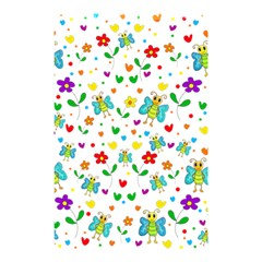Cute Butterflies And Flowers Pattern Shower Curtain 48  X 72  (small)  by Valentinaart