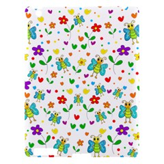 Cute Butterflies And Flowers Pattern Apple Ipad 3/4 Hardshell Case by Valentinaart