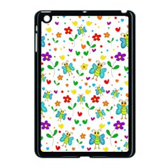 Cute Butterflies And Flowers Pattern Apple Ipad Mini Case (black)