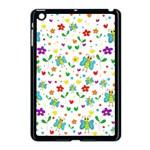 Cute butterflies and flowers pattern Apple iPad Mini Case (Black) Front