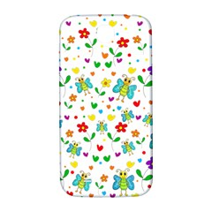 Cute Butterflies And Flowers Pattern Samsung Galaxy S4 I9500/i9505  Hardshell Back Case by Valentinaart