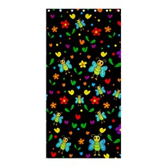 Butterflies And Flowers Pattern Shower Curtain 36  X 72  (stall)  by Valentinaart