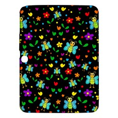 Butterflies And Flowers Pattern Samsung Galaxy Tab 3 (10 1 ) P5200 Hardshell Case  by Valentinaart
