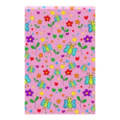 Cute Butterflies And Flowers Pattern   Pink Shower Curtain 48  X 72  (small)  by Valentinaart